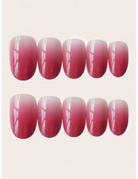 24pcs DIY Ombre Fake Nail & 1pc Side Tape