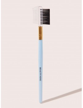 1pc Slogan Pattern Duo Brow Brush