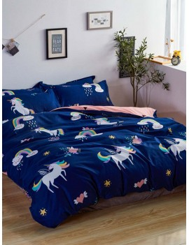 Rainbow & Unicorn Print Sheet Set