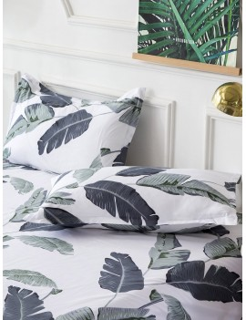 Leaf Print Pillowcase 1Pair
