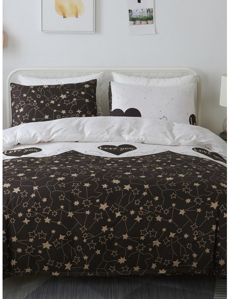 Star & Heart Print Sheet Set