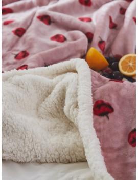 Strawberry Print Blanket 1PC