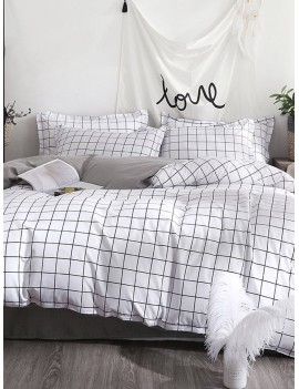 Allover Grid Print Sheet Set