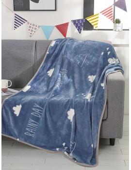 Weather Print Velvet Blanket 1PC