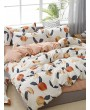Peach Print Sheet Set