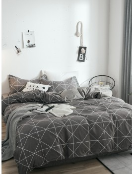 Geometric Print Duvet Cover 1PC