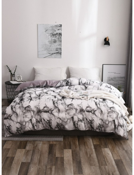 Marble Print Duvet Cover 1PC