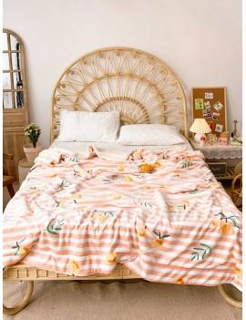 Loquat Print Stripe Blanket