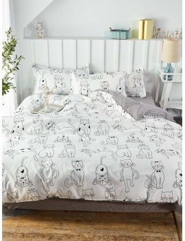 Cartoon Cat Print Sheet Set