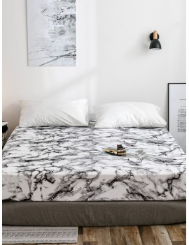 Marble Print Fitted Sheet 1PC