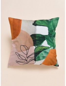Watercolor Plant Print Cushion Cover