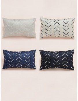 1pc Simple Arrow Line Print Pillowcase