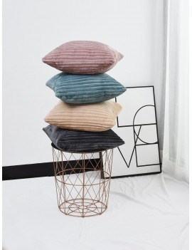 1pc Solid Suede Cushion Cover