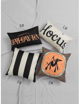 1pc Halloween Element Print Cushion Cover
