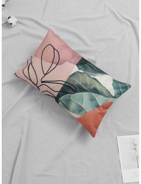 Tropical Plant Print Pillowcase