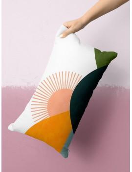 Mountain & Sun Print Lumbar Pillowcase