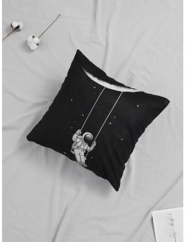 Astronaut Swinging Print Cushion Cover