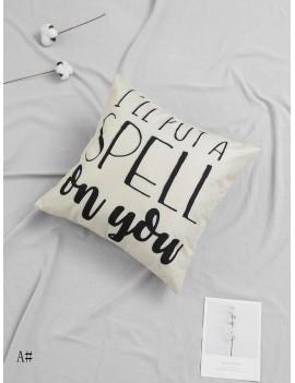 Slogan Graphic Cushion Cover
