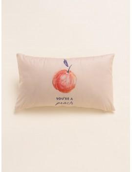 Simple Peach Print Pillowcase