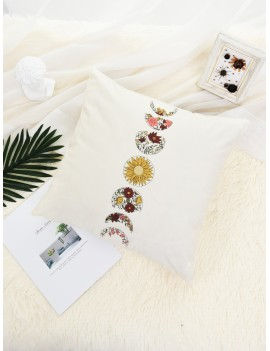 Flower Print Cushion Cover