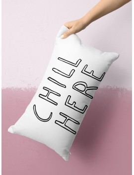 Slogan Graphic Lumbar Pillowcase
