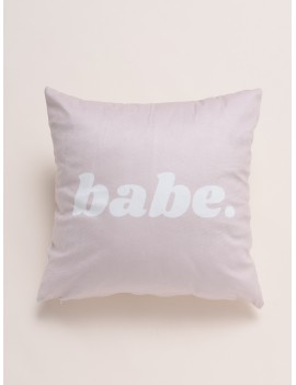 Simple Letter Print Cushion Cover