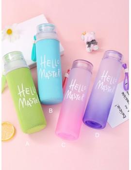 Slogan Print Water Bottle 1pc