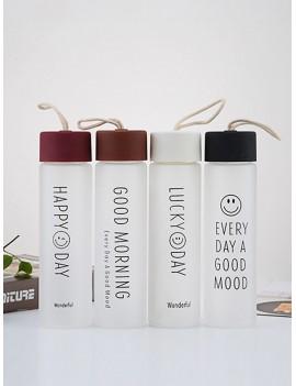 Slogan Print Scrub Water Bottle 1pc