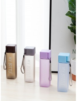 Letter Print Square Water Bottle 1pc