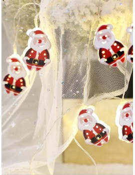10pcs Christmas Santa Claus Bulb String Light