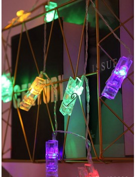 10pcs Clip Shaped Bulb String Light 1.5M