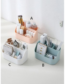 1pc Desktop Multi-compartment Storage Box