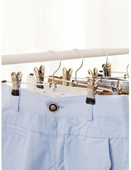 Non-slip Pants Hanger With Clips 1pc
