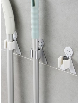 1pc No-Punch Wall Hanging Mop Hook