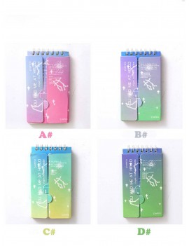 1pack Portable Constellation Print Cover Word Book