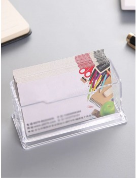 Clear Business Card Desk Holder