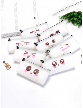 Cute Expression Print Pencil Case 1pc
