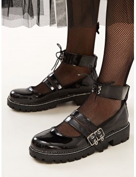 Double Buckle Ankle Strap Flats
