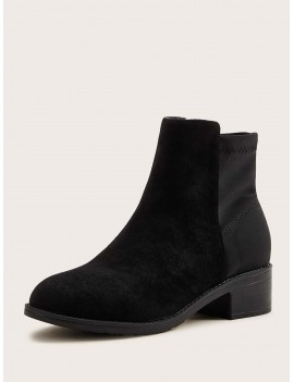 Almond Toe Chunky Boots