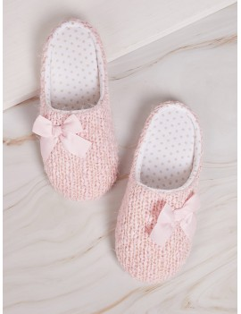 Bow Decor Flat Slippers